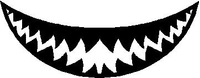 Shark Teeth Decal / Sticker 15