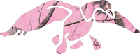 Pink Camo Duck Hunting Decal / Sticker