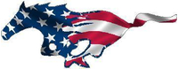 American Flag Horse Decal / Sticker