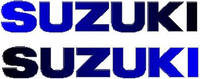 Black to Blue Fade Suzuki Pair Decals / Stickers