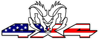 Z 4x4 American Flag Ram Decal / Sticker 40