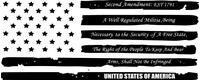American Flag Second Amendment Decal / Sticker 92