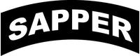 Sapper Rocker Decal / Sticker 01