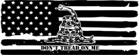 Don't Tread on Me American Flag Decal / Stickers 06
