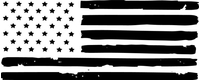 Weathered American Flag Decal / Sticker 100