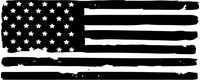 Weathered American Flag Decal / Sticker 101