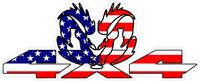 Z 4x4 American Flag Ram Decal / Sticker 38