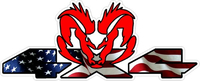 Z 4x4 American Flag Ram Decal / Sticker 46