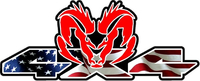Z 4x4 American Flag Ram Decal / Sticker 47
