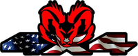 Z 4x4 American Flag Ram Decal / Sticker 48