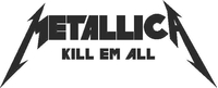 Metallica Kill Em All Decal / Sticker 05