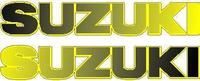 Black to Yellow Fade Suzuki Pair Decals / Stickers