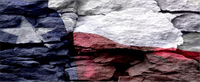 Texas Rock Flag Decal / Sticker 04
