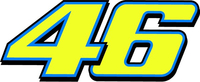 46 Valentino Rossi Decal / Sticker c