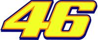 46 Valentino Rossi Decal / Sticker f