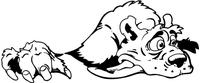 Bear Mascot Tongue Decal / Sticker