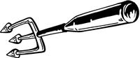 Devils Pitchfork Baseball Bat Mascot Decal / Sticker