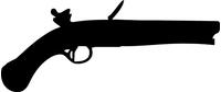 Flintstock Pistol Gun Decal / Sticker