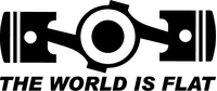The World Is Flat Decal / Sticker 01