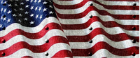 American Flag with Rivets Decal / Sticker 40
