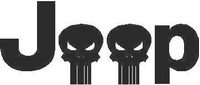 Jeep Skulls Decal / Sticker 01