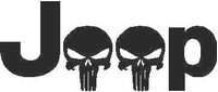 Jeep Skulls Decal / Sticker 02