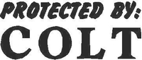 Protected by Colt Decal / Sticker