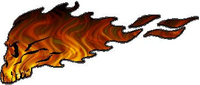 Flaming Skull Decal / Sticker 07