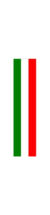 z 12 Inch Italian Flag Single Racing Stripe Decal / Sticker