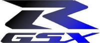 Black to Blue fade GSXR Decal / Sticker 1