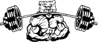 Weightlifting Cougars / Panthers Mascot Decal / Sticker