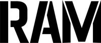 Ram Lettering Decal / Sticker 01