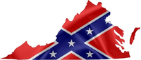 Virginia Confederate Flag Decal / Sticker 04