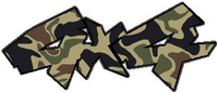 Z Traditional Brown Camo 4x4 Decal / Sticker 20