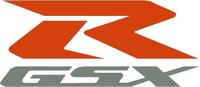 Orange and Silver GSXR Decal / Sticker