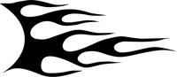 Flames Around Style Decal  / Sticker