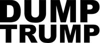 Dump Trump Decal / Sticker 02