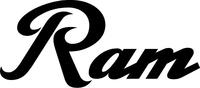 Ram Lettering Decal / Sticker 18