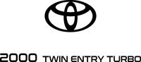 2000 Twin Entry Turbo Decal / Sticker