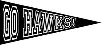 Go Hawks Pennant Decal / Sticker 03