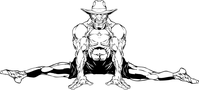 Gymnastics Cowboys Mascot Decal / Sticker