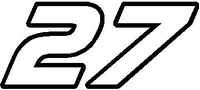 22 Race Number AF Pespi Font Decal / Sticker