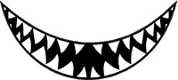 Shark Teeth Decal / Sticker 16