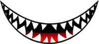 Shark Teeth Decal / Sticker 17