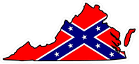 Virginia Confederate Flag Decal / Sticker 03