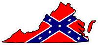 Virginia Confederate Flag Decal / Sticker 03