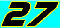 22 Race Number 2 Color AF Pespi Font Decal / Sticker
