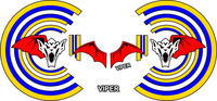 Top Gun Viper Helmet Decal / Sticker Set 01