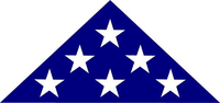 American Burial Flag Decal / Sticker 43