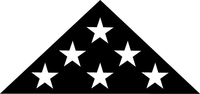 American Burial Flag Decal / Sticker 44